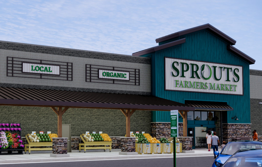 Rendering of Sprouts Exterior