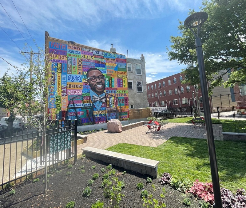 The Concert Garden in Philadelphia now has new seating, tables, and garden beds thanks to community support.